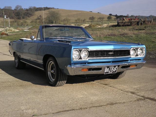 1968 Plymouth GTX Convertible  Chassis no. to be advised
