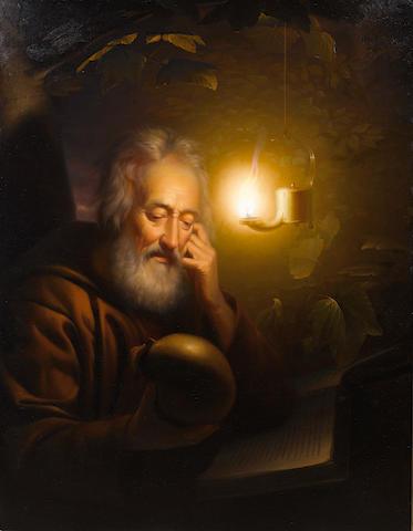 Petrus van Schendel (Belgian 1806-1870) Saint Jerome