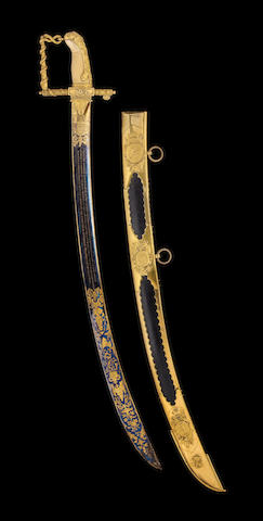 A Fine Lloyd's Patriotic Fund Sword Of £50 Value To Lieut Sir Willm. Geo. Parker Bart. Of H.M.S. Renommeé