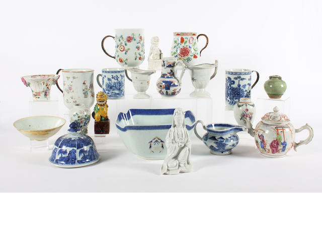 A group of Chinese export porcelain 18th Century.