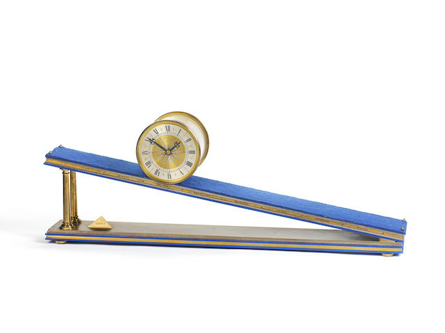 A late 20th century inclined plane clock Dent for Courtown, 1973