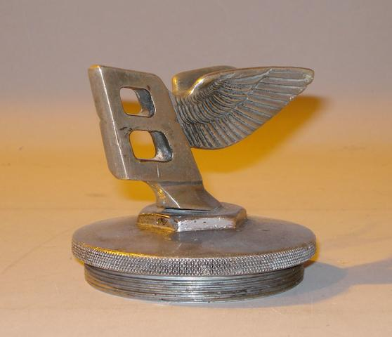 An original Bentley Flying B mascot,