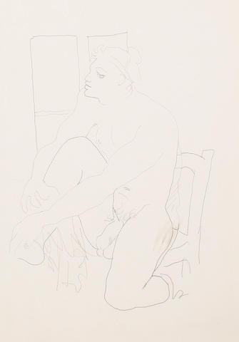 Jean Cocteau (French, 1892-1963) Marin pour 'Querelle de Brest'