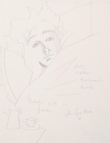 Jean Cocteau (French, 1889-1963) Arthur Rimbaud