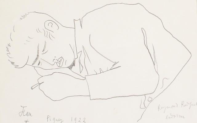 Jean Cocteau (French, 1892-1963) 'Raymond Radiguet endormi'