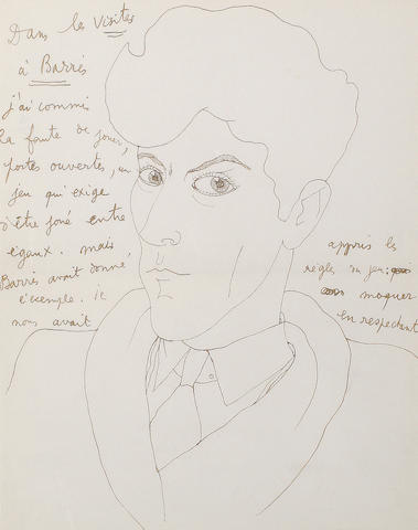 Jean Cocteau (French, 1892-1963) Self portrait
