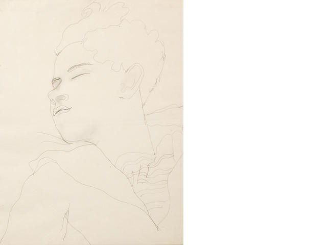 Jean Cocteau (French, 1892-1963) Jean Desbordes sleeping