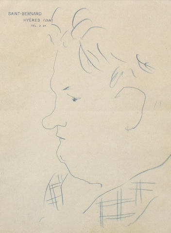 Jean Cocteau (French, 1889-1963) Georges Auric