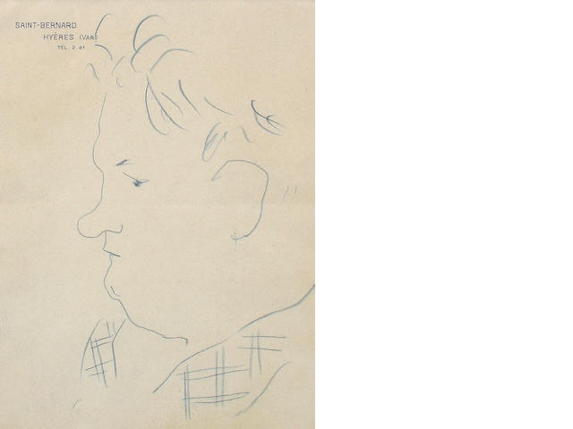 Jean Cocteau (French, 1892-1963) Georges Auric