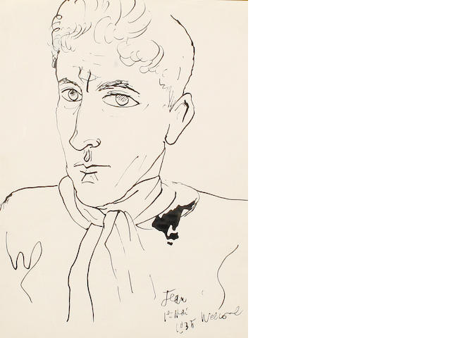 Jean Cocteau (French, 1892-1963) Self portrait, 1935