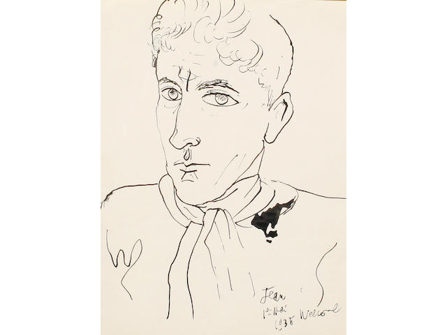 Jean Cocteau (French, 1889-1963) Self portrait, 1935