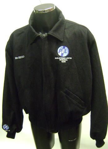 A Public Image Ltd tour jacket, 1987,