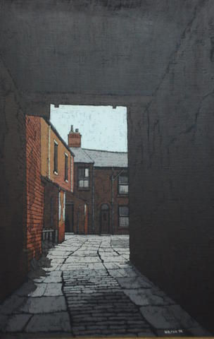 Stuart Walton (British, born Leeds 1934) Sidebottom's Yard, Wakefield,