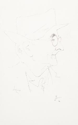 Jean Cocteau (French, 1892-1963) Portrait of Paul Léautaud