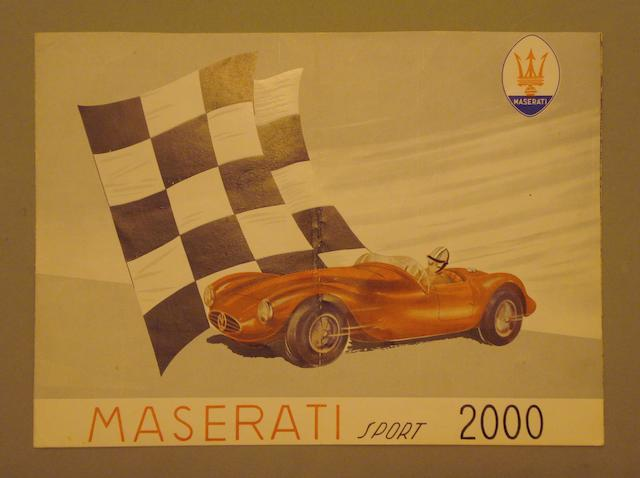 A sales brochure for the Maserati Sport 2000, 1950s,