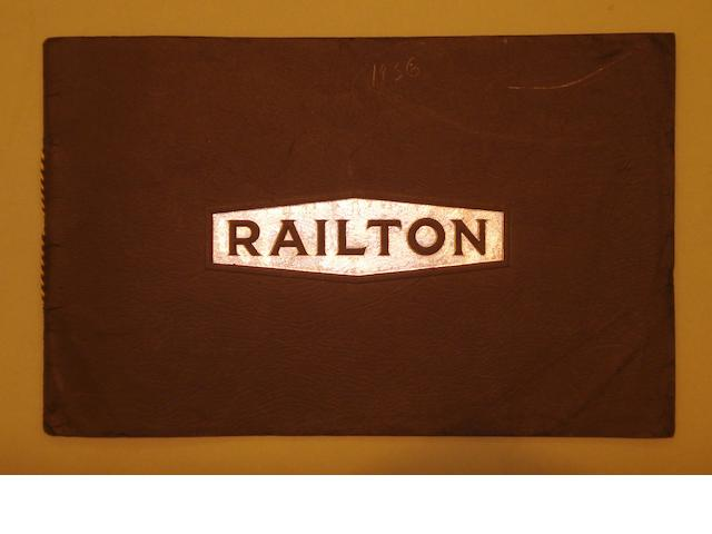 A Railton sales brochure, 1936,