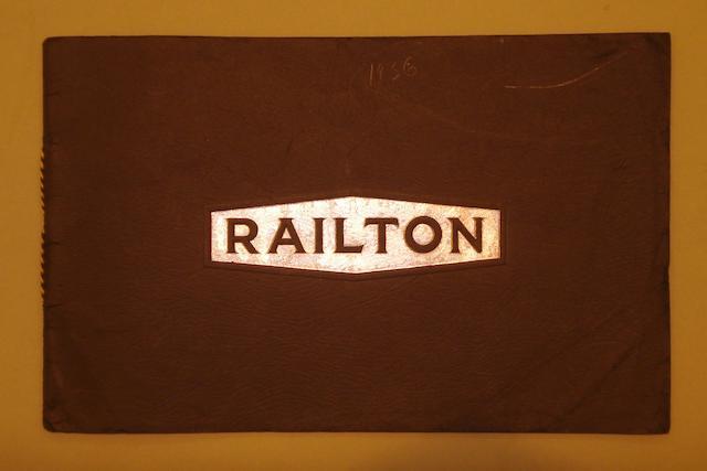 A Railton sales brochure, 1936,