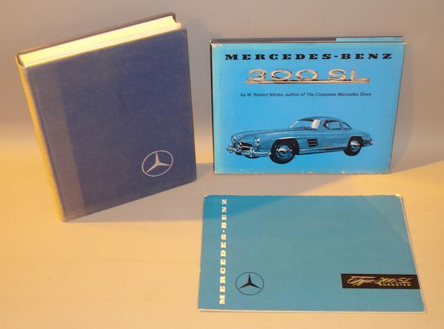 Three items of literature relating to the Mercedes-Benz 300SL,