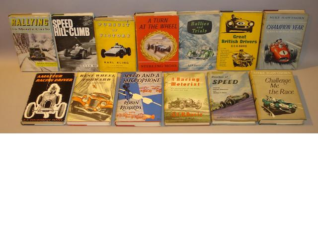 A good collection of motoring related books,