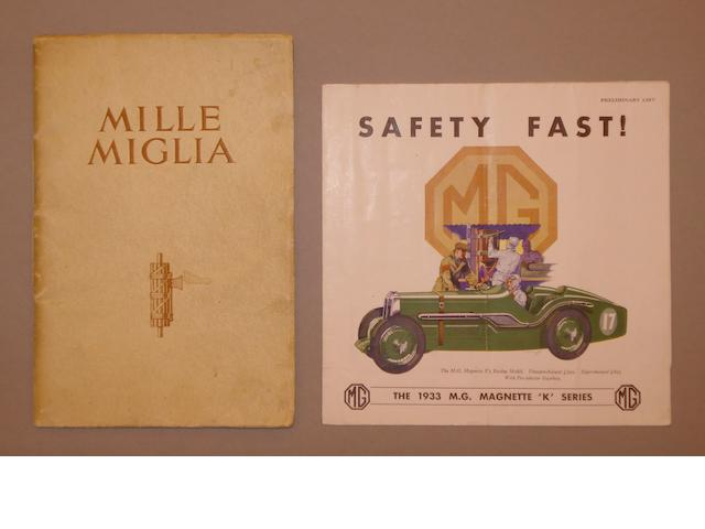 Two MG Magnette K series sales brochures,