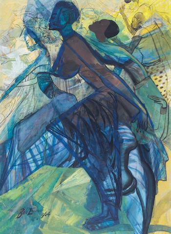 Ben (Benedict Chukwukadibia) Enwonwu, M.B.E (Nigerian, 1917-1994) Africa Dances 1964