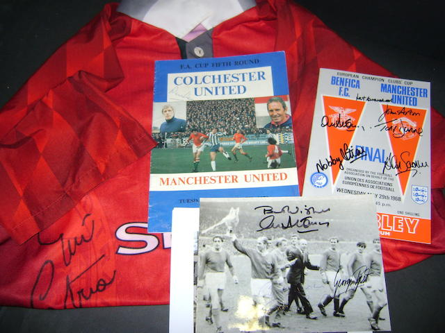 Manchester United hand signed items