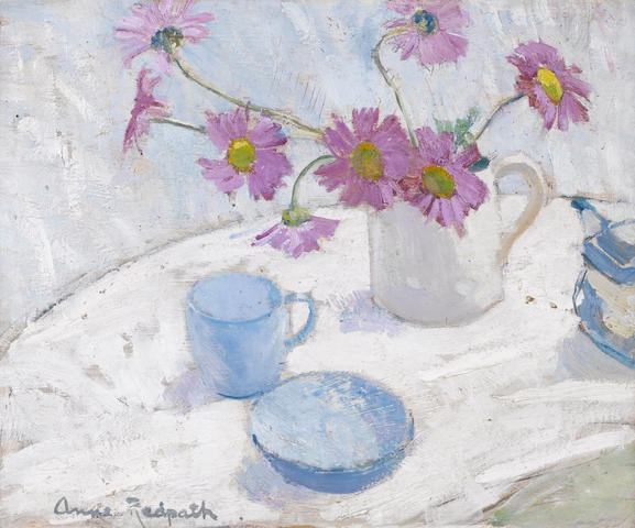 Anne Redpath, OBE RSA ARA LLD ARWS ROI RBA (British, 1895-1965) Still life with Michaelmas Daisies