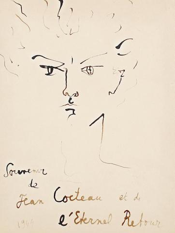 Jean Cocteau (French, 1892-1963) Jean Marais