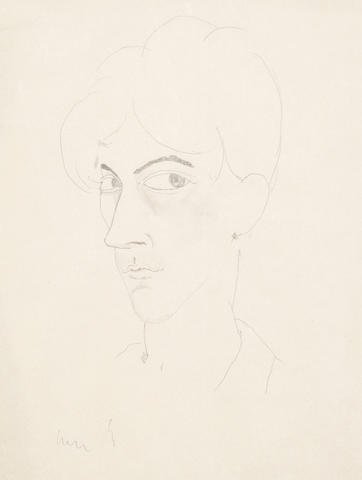 Jean Cocteau (French, 1889-1963) Self Portrait, circa 1916