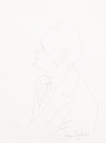 Jean Cocteau (French, 1892-1963) Jean Genet