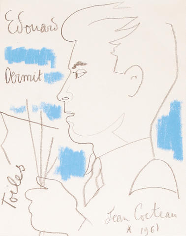 Jean Cocteau (French, 1892-1963) Edouard Dermit