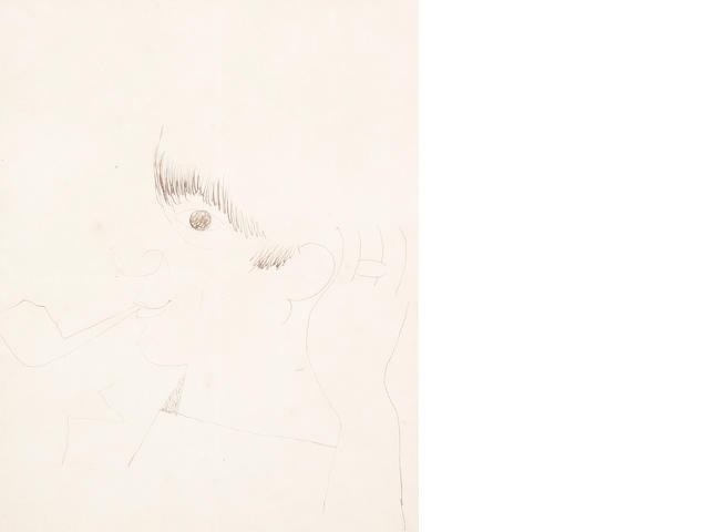 Jean Cocteau (French, 1892-1963) Pablo Picasso