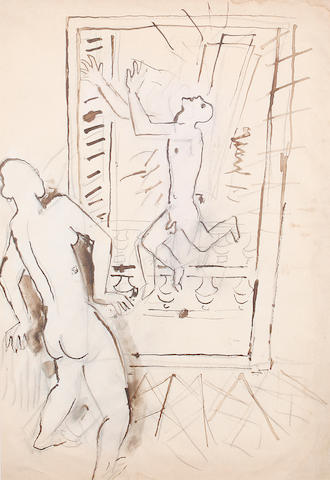 Jean Cocteau (French, 1892-1963) Two nude figures