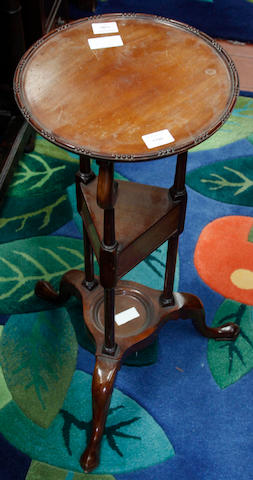 A George III style mahogany shaving stand,