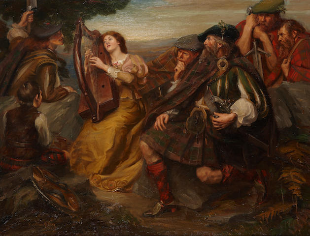 Graham Glen (British, active 1897-1925) 'Annot Lyle, Song to the Clarsach'