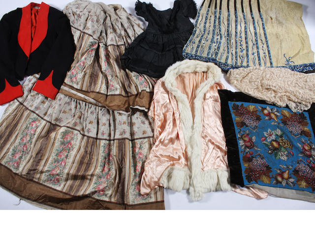 A group of 19th and early 20th century clothing