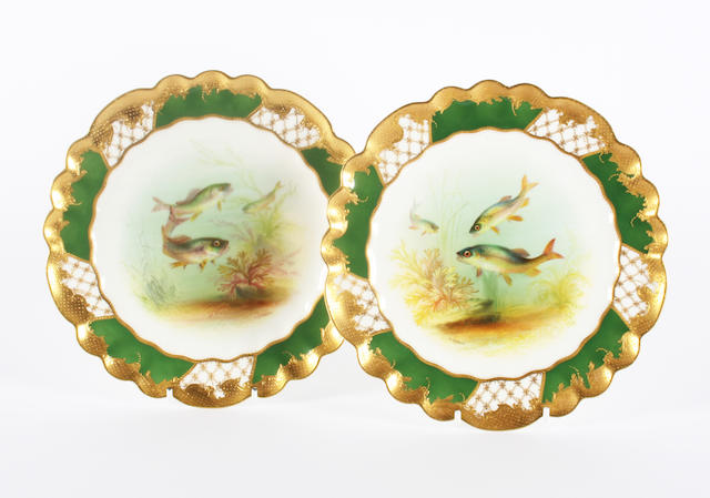 A pair of George Jones cabinet plates 20th Century.