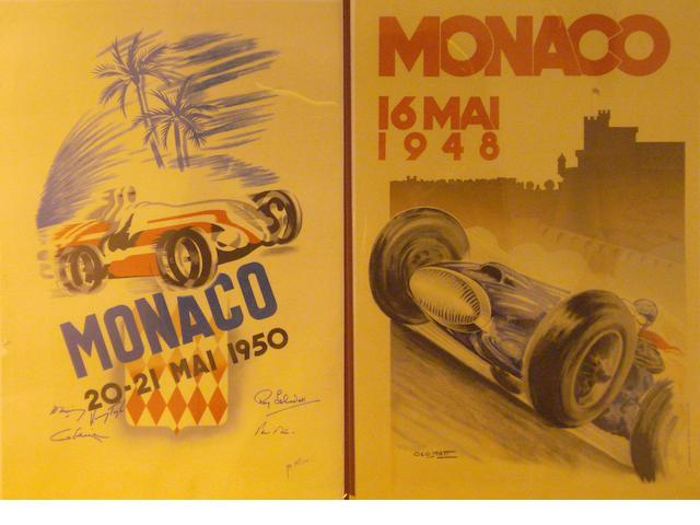 Two reproduction Monaco Grand Prix posters,