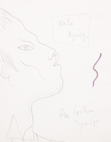 Jean Cocteau (French, 1892-1963) Vaslav Nijinsky