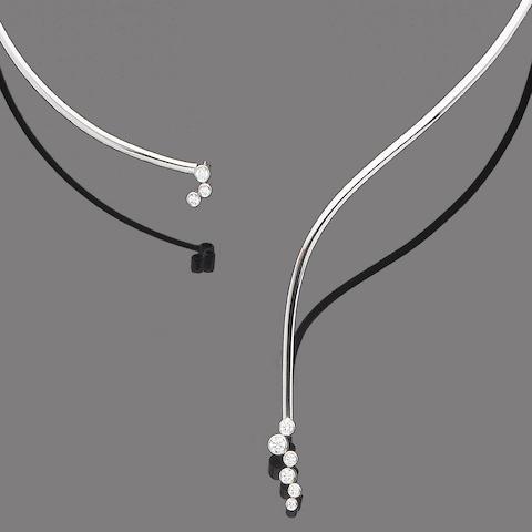 A diamond-set collar necklace, by Georg Jensen