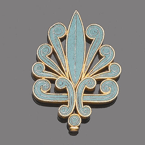 A gold and micromosaic jewel, by Castellani,