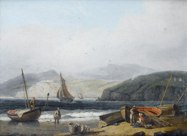 Thomas Luny (British, 1759-1837) Low tide