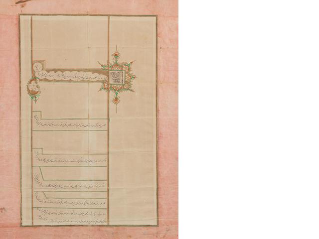 A Qajar firman relating to a Crown Prince MANIJEH