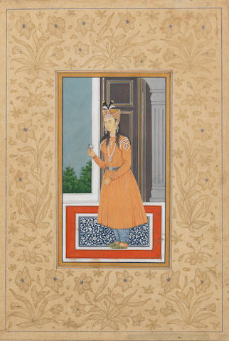 A maiden on a terrace Delhi, mid-19th Century