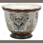 A late 19th Century earthenware jardiniere,