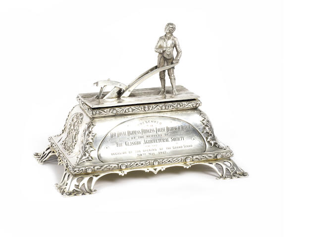 SCOTTISH SILVER INKWELL