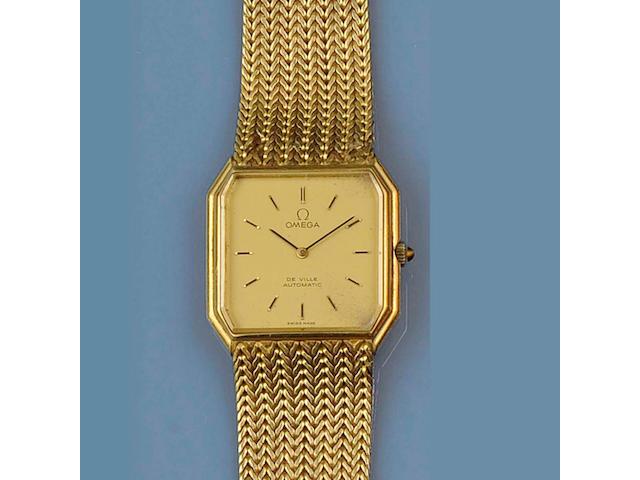 Omega de Ville: An 18ct gold gentleman's automatic wristwatch