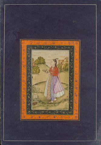 A princess in a landscape Mughal