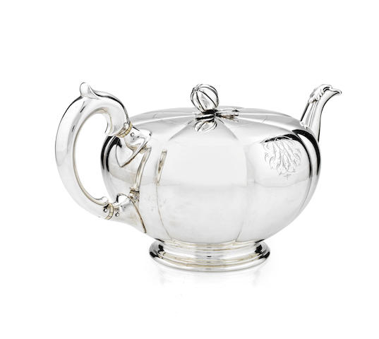 Of Royal Interest: A silver teapot presented to John Brown by Queen Victoria By Garrard, London 1867