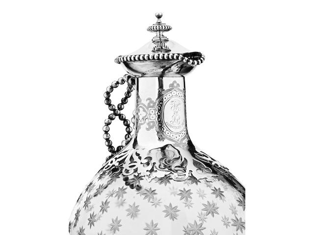 Of Royal Interest: A silver mounted claret jug presented to John Brown by Queen Victoria By Robert Hennell, London 1860